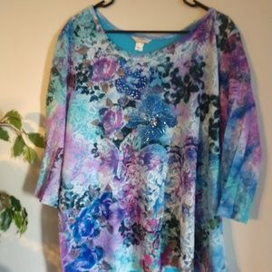 CJ Banks NWT lace tye dye shirt